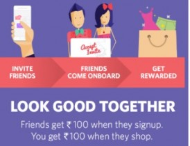 Myntra Refer and Earn : Free Rs.100 Credit Per Refer : Myntra Refer a Friend