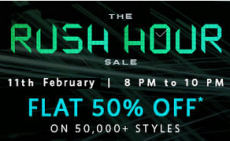 Myntra Rush Hour Sale 11th Feb – Flat 50% Off Sale