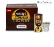 Nescafe Sunrise Insta-Filter Coffee 100gm + Tumbler  @ Rs.195