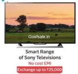 No Cost Emi on Sony Smart Televisions Range – Flipkart Big Diwali Sale