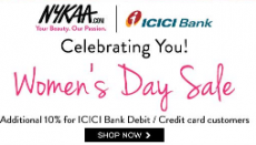Nykaa Women's Day Sale – Women's Day Offer 2015