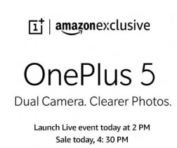 OnePlus 5 Sale in India : OnePlus 5 Amazon Price : Amazon OnePlus 5 Sale on 22nd June at 4:30PM