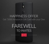 OnePlus One with Free Rs.2000 Gift Card – OnePlus Gift Card Offer