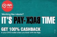 Oyo Rooms 100% Cashback Coupon : OYSCBSP – Oyo 100% Cashback Offer