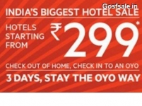 Oyo Rs.299 Sale : OyoRooms Hotels from Rs. 299 + 1% off – Oyo Rooms