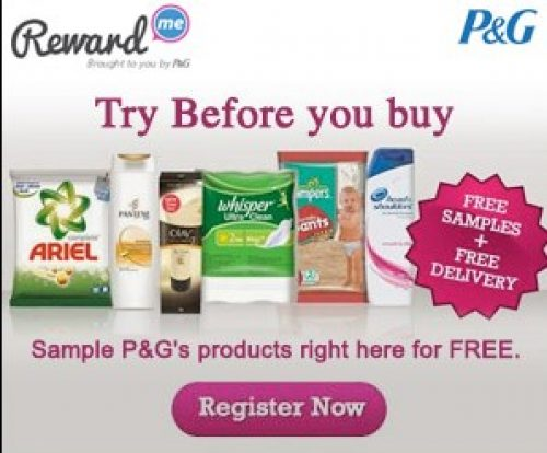 P&G Free Samples India : Free Samples Registration India : February
