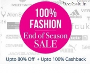 Paytm 100% Cashback Sale : Paytm 100% Cashback on Fashion Products