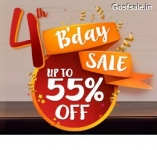Pepperfry 4th BirthDay Sale : Upto 55% off on Pepperfry.com