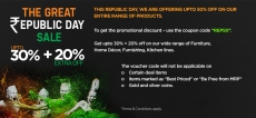 Pepperfry Republic Day Offer : Upto 50% Off on 26th Jan Sale