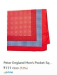 Peter England Men's Pocket Square @ Rs.111 – Amazon India