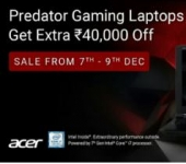Flat Rs.40000 off on Acer Predator Gaming Laptops Starting Rs.59990 – Flipkart Big Shopping Days