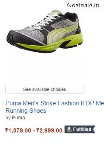 FLat 60% off on Puma Men s Strike Fashion II DP Mesh Running Shoes ... c8cb542f4