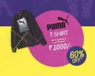 Puma T-shirt Rs.1000 – Flat 60% Off : Myntra End of Reason Sale