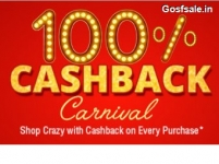 ShopClues 100% Cashback Carnival