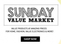 Snapdeal Sunday Value Market : Snapdeal Sunday Offers