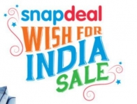 Snapdeal Wish For India Sale : Upto 70% off on Electronics & Mobiles,Tvs & More