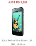 Spice AndroidOne Rs.3999 – Flipkart