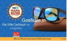 Sunglasses & Eyewear Extra upto 80% Cashback – PayTm ( Ray-Ban Also )