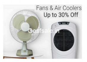 Upto 30% Off on Fans & Air Coolers – Flipkart Holi Offer on Fans & Air Coolers