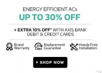 Upto 30% off on 5 Star Power Rating Acs – Flipkart 25th May
