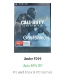 Upto 84% off on PS,Xbox and PC Games – Flipkart