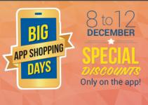Flipkart Big App Shopping Days 8th December – 12th December 2014