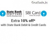 Flipkart SBI Bank Offer : 10% off on Purchase of Rs. 5999