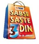 Big Bazaar Sabse Saste 3 Din (24 Jan – 26 Jan 2015) – Republic Day Offers