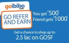 Goibibo Gosf Contest : Win Free Shopping Worth 2.5 Lac