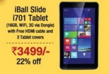 Iball Slide i701 Tablet Rs.3499 – 22% Off – Amazon Great Indian Diwali Sale