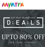 Myntra Deal of The Day – Upto 80% Off