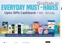 Upto 50% Cash Back On Personal Care, Skin Care & Make up, Grooming Products & much more (4th & 5th July) – Paytm