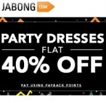 Women Party Dresses Flat 40% OFF From Jabong.com