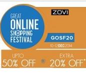 Zovi GOSF 2014  – Upto 50% OFF + Extra 20% OFF + Extra 20% OFF